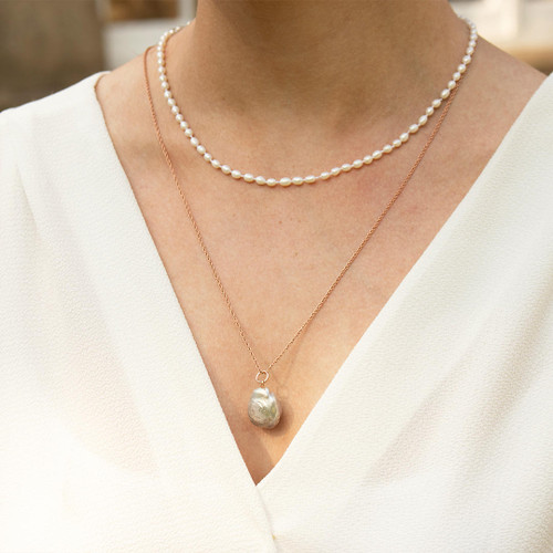 Seed Pearl Necklace | Ivory
