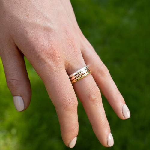 Friendship Band Ring | Rose Gold