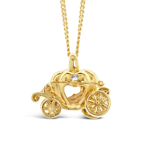 Magical Charm Necklace | Carriage / Adventure / Gold