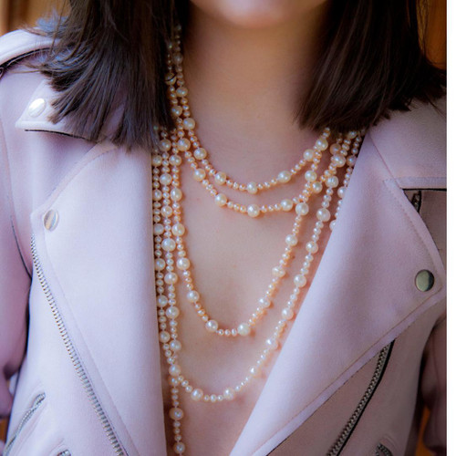 Eternal Pearl Necklace | Champagne