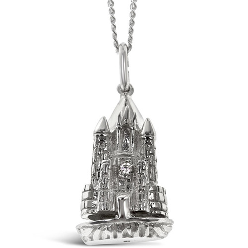 Magical Charm Necklace   Castle / Home / Silver