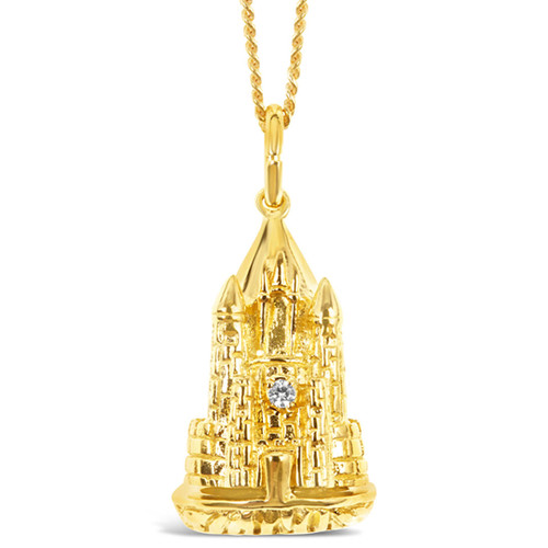 Magical Charm Necklace | Castle / Home / Gold