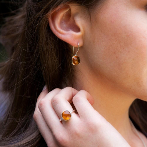 Citrine Cocktail Ring | Silver