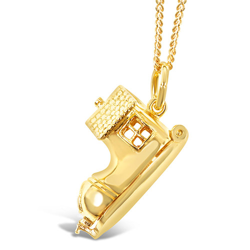 gold family magical charm necklace