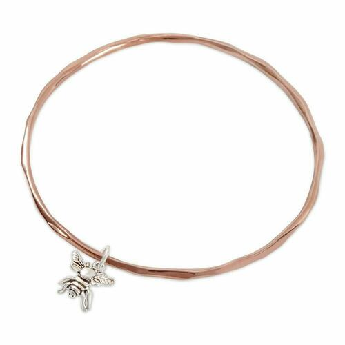 Lily Blanche bee bangle rose gold