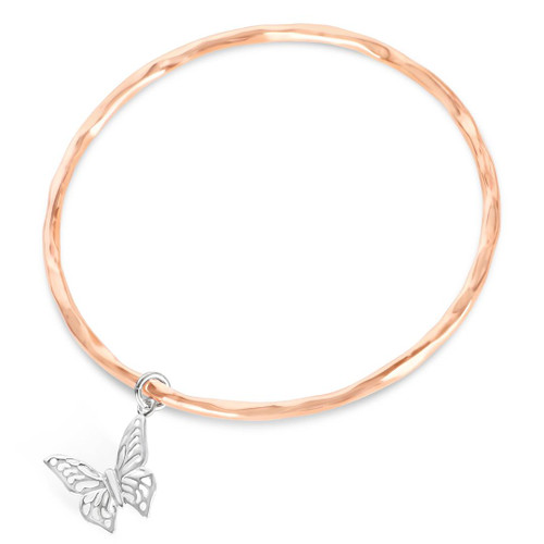 Butterfly Bangle   Rose Gold / Silver