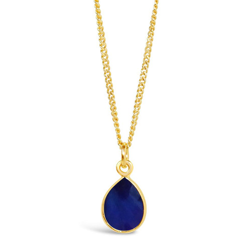 Sapphire Charm Necklace   Gold / September