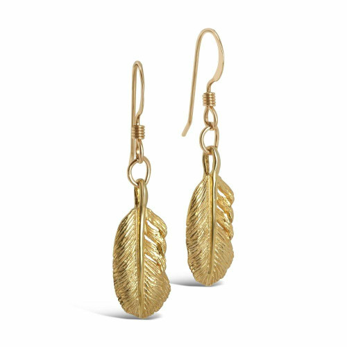 Feather Earrings | Gold