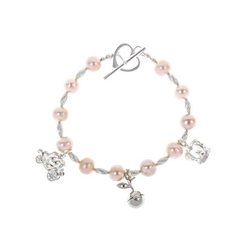 Charm Bracelet Pearl | Pink | Three Magical Charms
