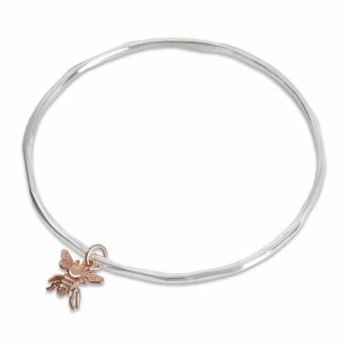 Bee Bangle | Silver / Rose Gold