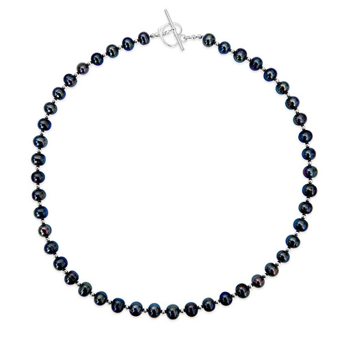 Sterling Pearl Necklace | Midnight