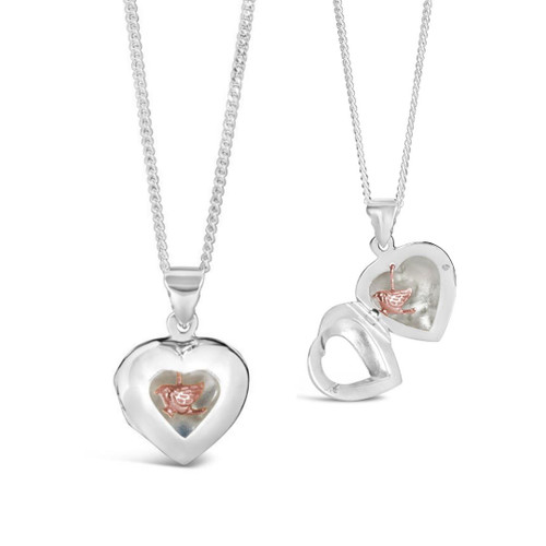 Song In My Heart Locket   Rose Gold
