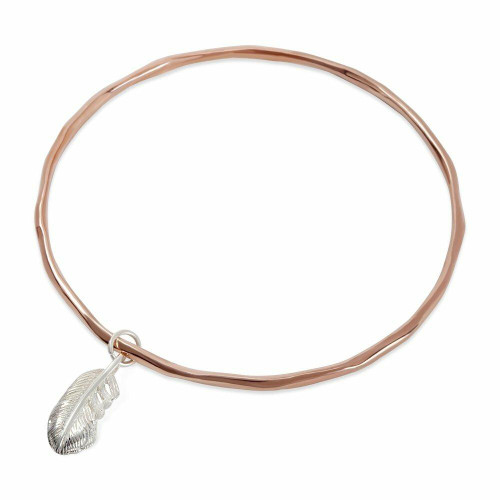 Feather Bangle | Rose Gold / Silver