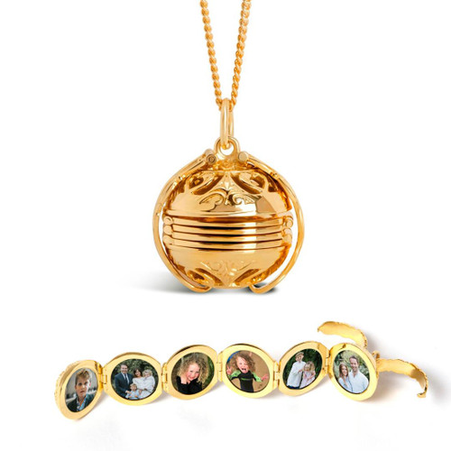 Lily Blanche Memory Keeper Locket Gold