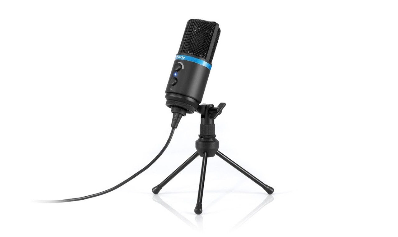 IK Multimedia iRig Mic Studio Digital Microphone for iPhone, iPad, Android  and Mac/PC - Black