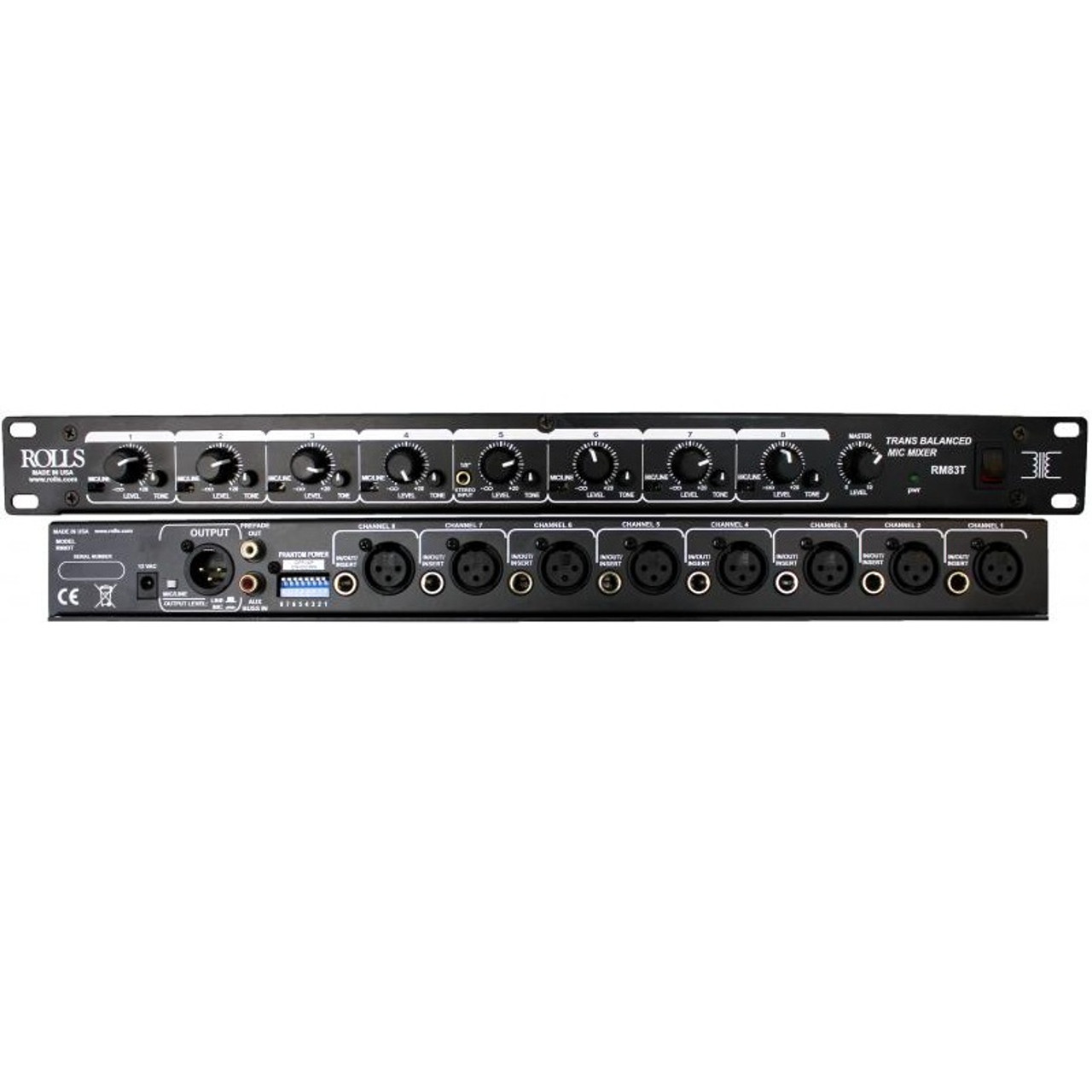 Rolls RM82 8 Channel Mic//Line Mixer