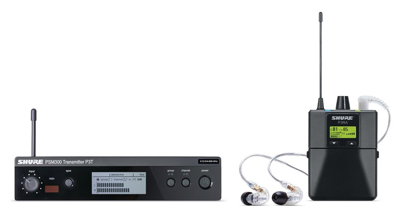 Shure P3tra215cl G20 Psm 300 Stereo Personal Monitor System Wiem