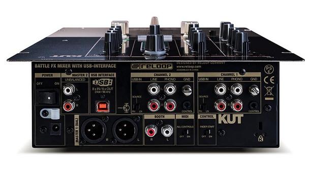 Reloop KUT Digital 2-Channel Battle FX Mixer With InnoFader