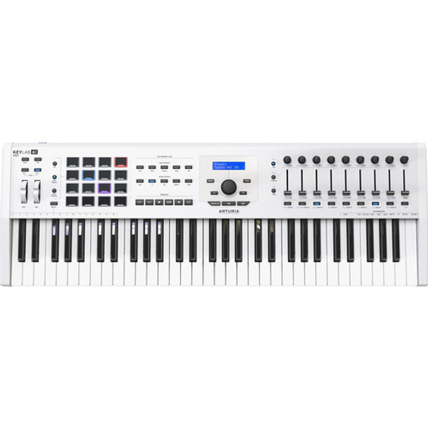Arturia Arturia KeyLab MKII 61 Professional MIDI Controller and Software (White)