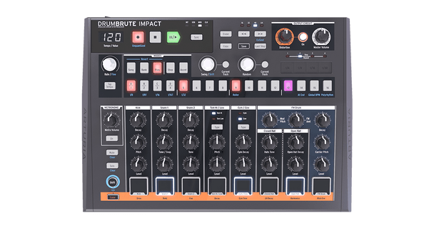 Arturia DrumBrute Impact Streamlined Analog Drum Machine