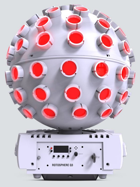 Chauvet DJ Rotosphere Q3 White High Power LED Mirror Ball Effect Simulator