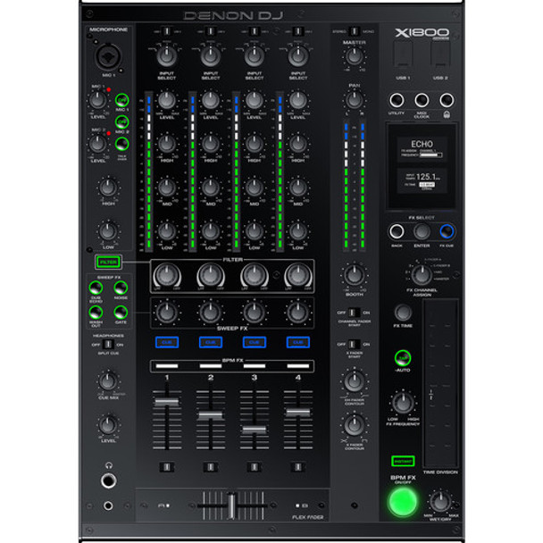 Denon X1800 Prime Professional 4-Channel DJ Club Mixer With Smart Hub