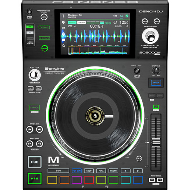 Denon SC5000M PRIME Motorized Platter Professional DJ Media Player With 7 Inch Multi-Touch Display