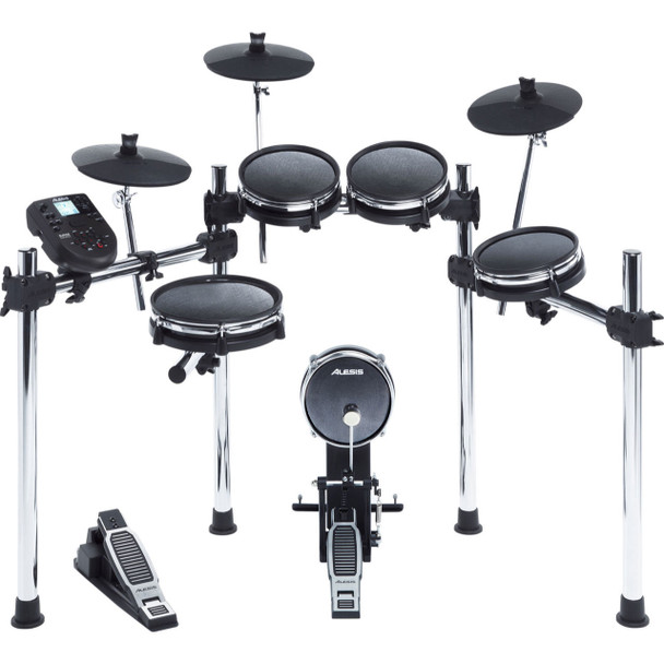 Alesis Surge Mesh Kit 8-Piece Drum Kit With Over 300 Sounds, All Mesh Pads, 3-Sided Chrome Rack.
