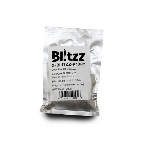 ProX Blitzz-P10FT Large Powder Cold Spark Effect Granules for Indoor or Outdoor Use Titanium Alloy Grains