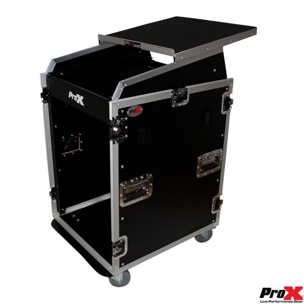 ProX Universal 19 Rackmount Mixer 13U Top 16U Front W/2 Side Work Tables