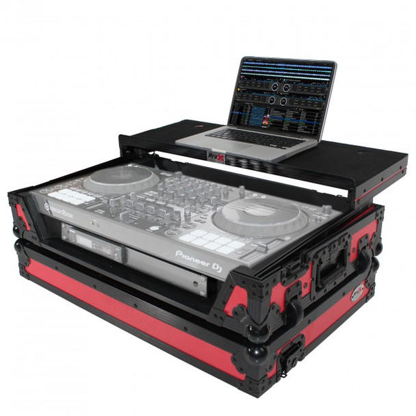 ProX Flight Case for Pioneer DDJ1000 & DDJ1000SRT (BLK ON RED)