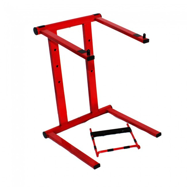 ProX Foldable Portable Laptop Stand W/Adjustable Shelf RED