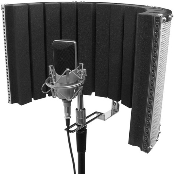 "On-Stage Stands Isolation Shield and Stand-Mounted Acoustic Enclosure (18.5 x 12"")"