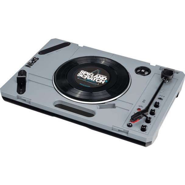 Reloop SPiN Portable Turntable System with Scratch Vinyl