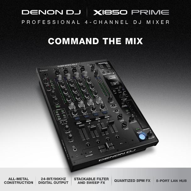 Denon DJ X1850Prime Professional 4-CH DJ Mixer