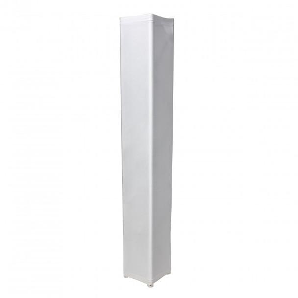 ProX White 8.20Ft 2.50 meter Lycra Cover Scrim Sleeve fits 12In. Quad Box Truss Segment