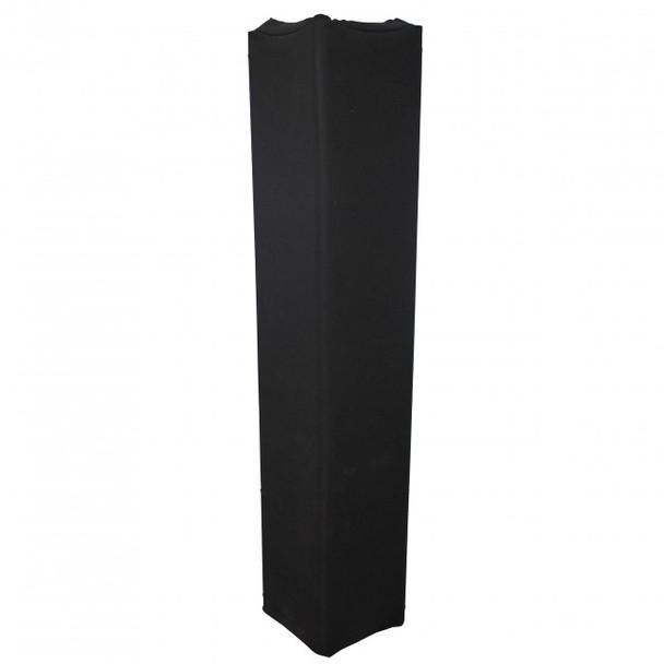 ProX BLACK 6.56Ft 2M Lycra Cover Scrim Sleeve fits 12In Quad Box Truss Segment
