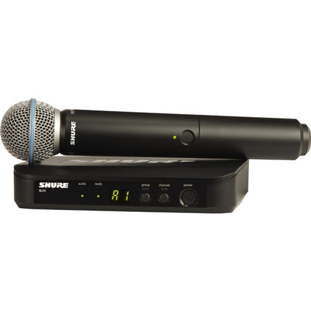 Shure BLX24/B58 Wireless Handheld Microphone System with Beta 58A Capsule (H10: 542 to 572 MHz)