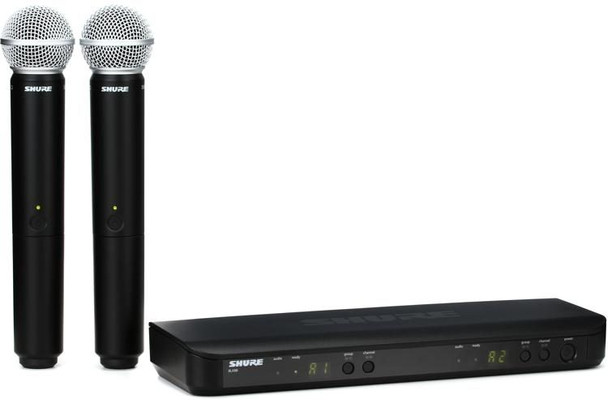 Shure BLX288/SM58 Dual Channel Wireless Handheld Microphone System - J11 Band