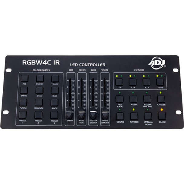 ADJ RGBW4C-IR 32-Channel DMX Controller for RGB, RGBW, and RGBA LED Fixtures (RC Compatible)