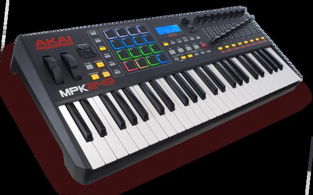 Akai MPK 249 Performance Keyboard Controller Akai Angle
