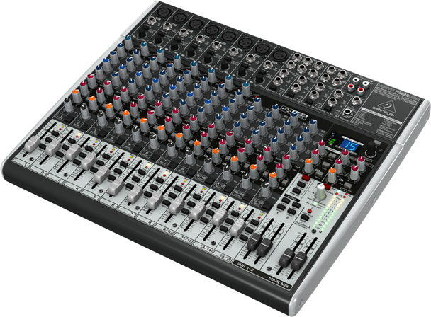 Behringer X2222USB 22-Input 2/2-Bus Mixer with XENYX Mic and Compressors