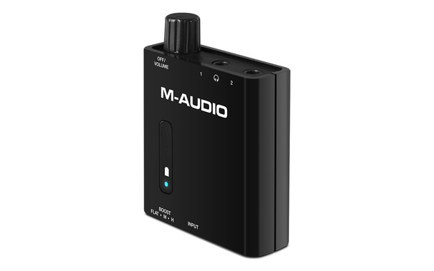 M-Audio BASSTRAVELER Portable Powered Headphone Amplifier w/Dual Outputs and 2-Level Boost