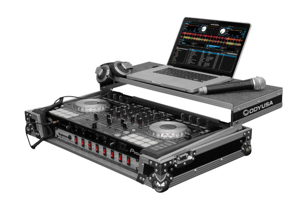 DJ Controller Glide Style Case with 19-inch 1U Bottom Rack Space for Pioneer DDJ-SX/DDJ-SX2