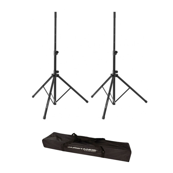 JamStands JS-TS50-2 Tripod Speaker Stands with Carry Bag