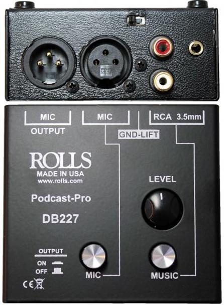 Rolls DB227 Podcast Pro Mic/Source Passive Mixer