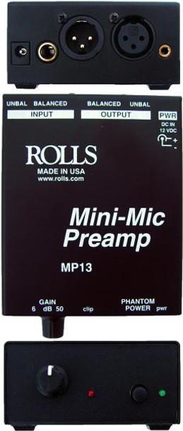MP13 Mini Single Ch Mic Preamp