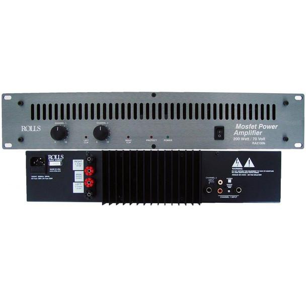 RA2100b 200 Watt/70 Volt Power Amp 2U