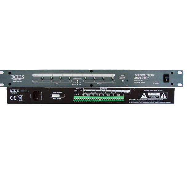 RA63b Distribution Amp 8 Ch Mono/4 Ch Stereo
