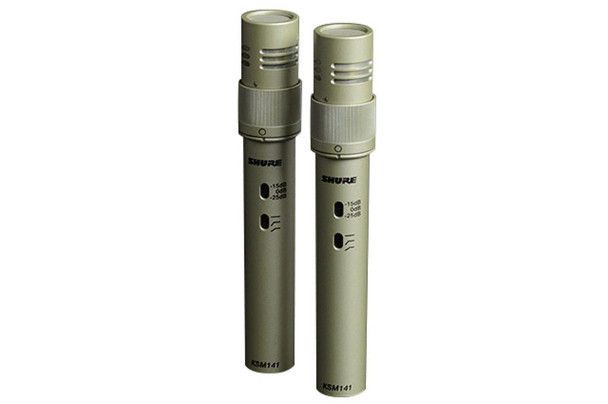 Shure KSM141/SL ST PAIR Condenser Microphone (Stereo Pair)